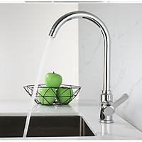 Vòi rửa chén nhà bếp nóng lạnh CHÍNH HÃNG KAMA RC13 100% inox 304 đánh bóng sang trọng, không chì, không rỉ sét phù hợp với mọi thiết kế bồn rửa chén nhà bếp - tặng kèm bộ dây cấp nước nóng lạnh 60 cm.