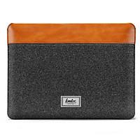 """Túi Chống Sốc TOMTOC Felt Và PU Leather Cho Macbook Pro/Air 13""""/Pro M1/Pro 16"""" - Hàng Chính Hãng"""