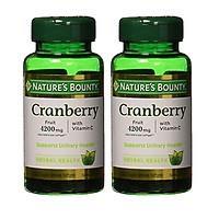Viên Uống Nature's Bounty Cranberry Fruit 4200mg Bổ Sung Vitamin C (120 Viên Nang Mềm x 2 Hộp)