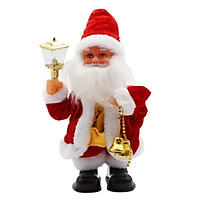 Electric Dancing Music Santa Claus Doll With Lamp Christmas Figurine Decoration Battery Powered Christmas Ornaments Kid Toy Gift