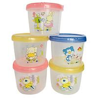 [5 hộp nhựa Việt Nhật] có nắp vặn, đựng thực phẩm. Chất liệu nhựa PP an toàn cho người sử dụng.