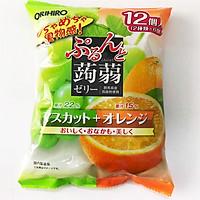 Thạch trái cây mix nho cam Orihiro 240g