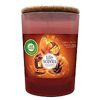 Ly nến thơm tinh dầu Air Wick Cosy by the Fire 185g PTT04253 - cam, quế, hồi