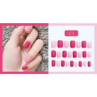 Bộ 24 móng tay giả nail thơi trang như hình V1