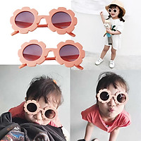 2 Pairs Of Cute Sun Flower Kids Girls Soft Plastic UV400 Sunglasses Pink