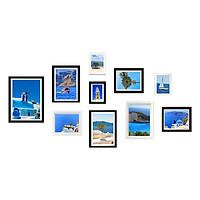 Bộ 10 Khung Hình Kính Treo Tường Tặng bộ ảnh như hình mẫu, Đinh Treo Tranh và sơ đồ treo - Khung Hình Phạm Gia PGCTK21
