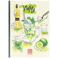 Bộ 5 Vở Kẻ Ngang Cocktail - 80 Trang Không Kể Bìa - ĐL 70 - Mẫu 2 - Mojito - Xanh Lá