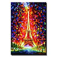 Tranh treo khách sạn Ánh sáng Paris LCV40-18 Thế Giới Tranh Đẹp