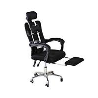 Ghế xoay văn phòng ngả duỗi đa năng màu đen trắng