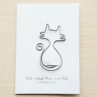 Kẹp đánh dấu sách hình mèo dễ thương