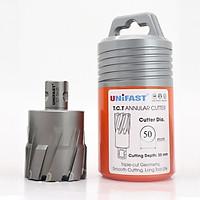 Mũi khoan từ hợp kim UNIFAST TCT Ø 50 mm sử dụng trên mọi loại máy khoan đế từ