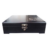 Hộp gỗ, hộp gỗ đựng đồ có khắc hình độc đáo có khóa chắc chăn có thể dùng làm quà tặng hoặc làm hộp ký ức.