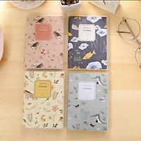 Sổ tay họa tiết Animal hoa lá bọc bìa trong 128 trang 5015 13,5x9,5cm - 1 mẫu - màu ngẫu nhiên