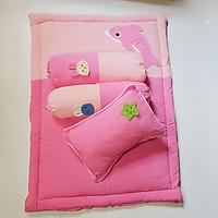 Bộ Gối Nệm Vải xốp con cá (thú)Cho Bé (1goosi đầu+2goosi ôm*1 nệm)cho bé