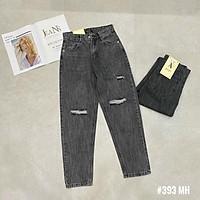 Quần baggy jeans khói rách. Size S M L