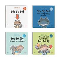 Sách - Bộ 4 cuốn Sóc Sợ Sệt - Hài hước bất ngờ dành cho trẻ từ 5 tuổi - Crabit Kidbooks