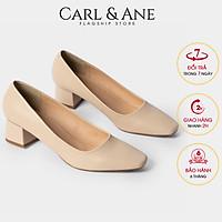 Giày cao gót Erosska thời trang bít mũi gót vuông kiểu dáng thanh lịch, dễ phối đồ, thích hợp đi học, đi làm, đi chơi, cao 5cm CP004