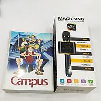 Micro Karaoke Magicsing - Hàng Chính Hãng kèm Lốc 5 Vở Ô Ly Campus B5 One Piece Legend - NB-BOPL200(200 Trang)