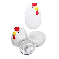 2 Pcs Kitchen Chicken Shape Microwave Egg Cooker Egg Poacher Boiler Steamer