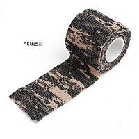 Self-adhesive Reused Non-woven fabric Outdoor Camouflage Wrap Tape Camo Stealth Tape for Hunting Rifle Bicycle Telescope Color Random
