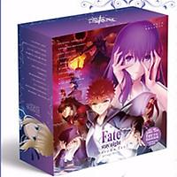 Hộp quà fate stay night saber hộp tím lớn gồm nhiều món đồ độc đáo như poster postcard tập ảnh anime chibi