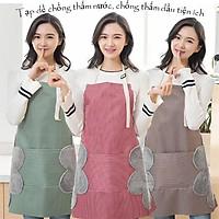 Tạp Dề Chống Thấm - Loại đẹp, dày dặn thiết kế 2 khăn lau tay San Ho phong cách Hàn Quốc 00352