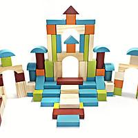 Đồ Chơi Gỗ, Bộ đồ chơi xếp hình 100 khối gỗ xây dựng cho bé thỏa sức tưởng tượng và phát huy sự sáng tạo