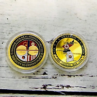 Xu Kỷ Niệm Chiến Tranh Triều Tiên Dùng để làm đồ lưu niệm, sưu tầm, trang trí bàn sách, kích thước 4cm, màu vàng - TMT Collection - SP005285