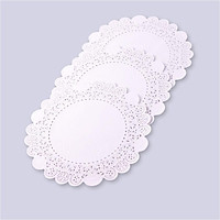 Giấy lót viền hoa tròn trắng 23cm (250 tờ/xấp)