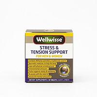 Thực phẩm chức năng Giảm căng thẳng và mệt mỏi Wellwisse Stress & Tension Support (30 viên)