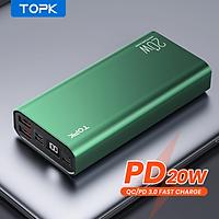 [HÀNG CHÍNH HÃNG] Sạc Dự Phòng TOPK I2006P PD 20W 20000MAh, Với Cáp Micro Usb Dành Cho iPhone Xiaomi Oppo