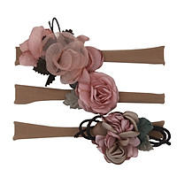 Cloth Multi-color 0-4T Comfortable 3Pcs Infant Baby Girls Kids Toddler Newborn Flower Design Hairband Headwear Hair Accessories