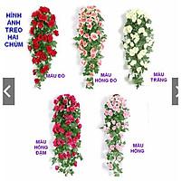 Giỏ hoa hồng treo tường trang trí nhà cửa (đã kèm giỏ mây)