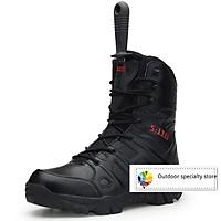 Giày boots phong cách quân đội chuyên nghiệp cho nam