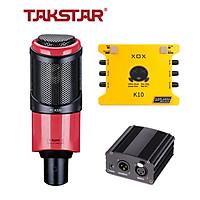 Combo mic thu âm Takstar PC K320, Soundcard K10 - HÀNG CHÍNH HÃNG