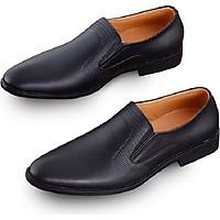 Giày Tây Nam Da Bò Thật UDANY - 2020 - Giày lười nam màu đen - GLN11