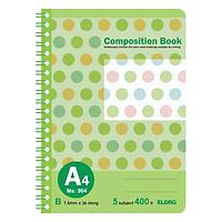 Sổ Lò Xo Kép Bìa Nhựa Klong A4 MS 904 (400 Trang)