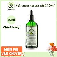 Dầu neem hữu cơ DOCNEEM, chai 50ml, phòng trị sâu bệnh hoa hồng, phong lan, cây cảnh, dầu neem oil nguyên chất ép lạnh
