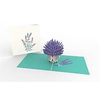 Thiệp 3D pop up Hoa Lavender