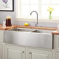 Bộ chậu Apron sink và vòi rửa 2 đường nước RANOX