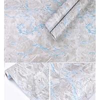 1 mét decal giấy dán tường xi măng vân xanh khổ 45cm keo sẵn