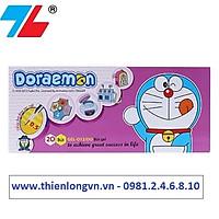 Hộp 20 cây bút gel 0.5mm Thiên Long Doraemon GEL-012/DO mực tím