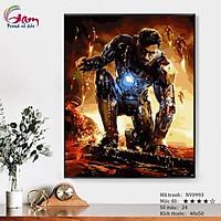 Tranh tô màu theo số sơn dầu số hóa Siêu anh hùng Người sắt Iron man NV0993