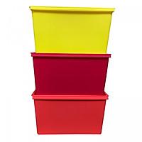 Combo 3 Hộp nhựa đựng đồ cao cấp Standard To - Màu sắc ngẫu nhiên