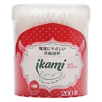 Tăm Bông Ikami Regular Hộp Nắp Bật 2 Đầu Thường GL01 (200 Chiếc / Hộp)