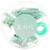 Hộp 72 Kẹp Ghim Văn Phòng TY-6615 - Màu Xanh Mint