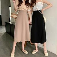 chân váy nữ dáng dài công sở chun lưng cá tính