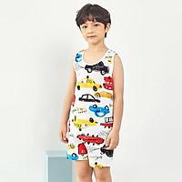 Bộ đồ ba lỗ mặc nhà cotton giấy cho bé trai U4009 - Unifriend Hàn Quốc, Cotton Organic
