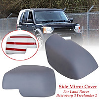 Pair Primer Color Wing Side Mirror Cover For Land Rover Discovery 3 Freelander 2