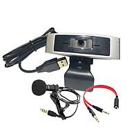 Webcam Dùng Cho Máy Tính, Laptop CM330G Kèm Micro Cài Áo, Gộp Loa Micro Để Sử Dụng Cho Webcam